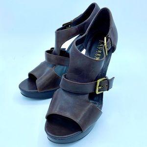 Ralph Lauren leather heel, size 10M